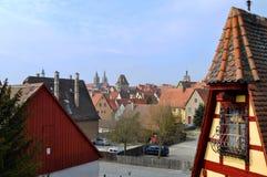 Der Tauber, Germania del ob di Rothenburg Fotografie Stock Libere da Diritti