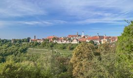Der Tauber ob Ротенбурга, Бавария, Германия Стоковое фото RF