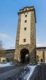 Der Tauber ob Ротенбурга, Германия - строб порочного. Стоковые Изображения RF