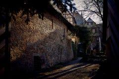 Der Tauber ob Ротенбурга, живописный средневековый город стоковое изображение rf