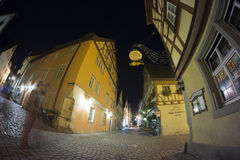 Der Tauber ob Ротенбурга на вечере Стоковое Фото