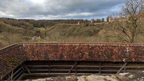 Der Tauber ob Ротенбурга, немецкая деревня Стоковое Изображение RF