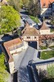 Der Tauber ob Ротенбурга, старый строб города Roeder Стоковое фото RF