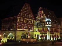 Der Tauber ob Ротенбург немецко для красной крепости над Tauber стоковые изображения