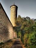 Der Tauber ob Ротенбург немецко для красной крепости над Tauber стоковое фото rf