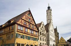 Der Tauber Rathaus, Alemania del ob de Rothenburg Fotos de archivo libres de regalías