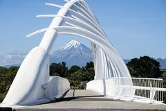 Der Te Rewarewa-Steg in Taranaki Stockbilder