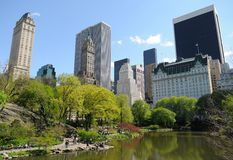 Der Teich am Central Park, New York City Lizenzfreies Stockbild
