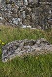 Der Teil des großen keltischen Kreuzes legt auf dem Boden, Felsen von Cashel Lizenzfreie Stockbilder