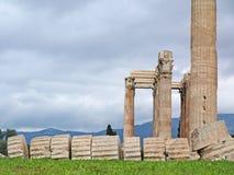 Der Tempel des olympischen Zeus Stockfotos
