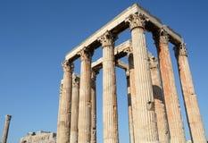 Der Tempel des olympischen Zeus in Athen lizenzfreie stockfotografie