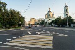 Der Tempel ehrwürdigen St. Sergius von Radonezh im Rogozhskaya Sloboda, Moskau, Russland Lizenzfreies Stockbild