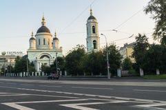 Der Tempel ehrwürdigen St. Sergius von Radonezh im Rogozhskaya Sloboda, Moskau, Russland Lizenzfreie Stockbilder