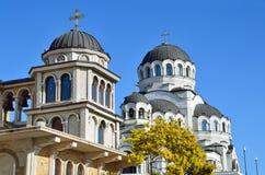 Der Tempel hergestellt nicht durch Handbild von Christus der Retter im Tempel-komplexen Schutz von Johannes der Baptist, Sochi Stockfoto