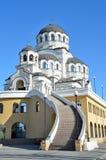 Der Tempel hergestellt nicht durch Handbild von Christus der Retter im Tempel-komplexen Schutz von Johannes der Baptist, Sochi Stockbild