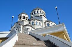 Der Tempel hergestellt nicht durch Handbild von Christus der Retter im Tempel-komplexen Schutz von Johannes der Baptist, Sochi, Lizenzfreie Stockfotos