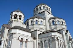 Der Tempel hergestellt nicht durch Handbild von Christus der Retter im Tempel-komplexen Schutz von Johannes der Baptist, Sochi, Stockbilder