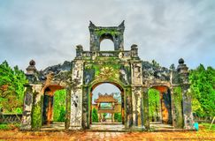 Der Tempel der Literatur in der Farbe, Vietnam stockbild