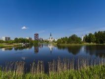 Der Tempel Srednyaya Rogatka in St Petersburg Lizenzfreie Stockfotografie