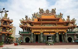 Der Tempel in Taiwan stockfotografie