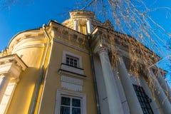 Der Tempel Vladimir Icons der Mutter des Gottes im Zustand Vinogradovo Lizenzfreies Stockfoto