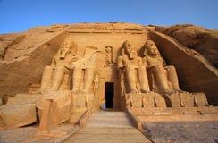 Der Tempel von Abu Simbel in Ägypten Stockbilder
