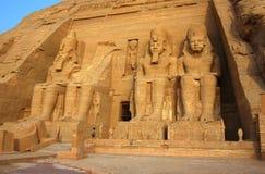 Der Tempel von Abu Simbel in Ägypten Stockbild