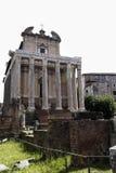 Der Tempel von Antoninus und von Faustina in Rom, Italien Stockfotos