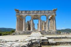 Der Tempel von Aphaia in Aegina, Griechenland am 19. Juni 2017 Stockbild