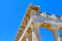 Der Tempel von Aphaia in Aegina, Griechenland am 19. Juni 2017 Lizenzfreie Stockfotos
