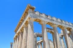 Der Tempel von Aphaia in Aegina, Griechenland am 19. Juni 2017 Lizenzfreie Stockbilder