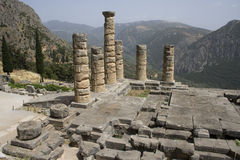 Der Tempel von Apollo in Delphi Lizenzfreie Stockbilder