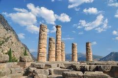 Der Tempel von Apollo in Delphi, Griechenland Lizenzfreie Stockbilder