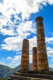 Der Tempel von Apollo in Delphi, Griechenland Lizenzfreie Stockfotos