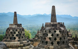 Der Tempel von Borobudur auf Java in Indonesien Stockbild