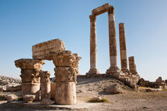 Der Tempel von Herkules, Amman-Zitadelle, Jordanien stockbild