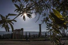 Der Tempel von olympischem Zeus in Athen, Griechenland lizenzfreies stockfoto
