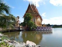 Der Tempel von Plai Laem im Dezember 2013 Koh Samui, Thailand Stockbild