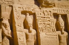 Der Tempel von Ramses II lizenzfreies stockbild