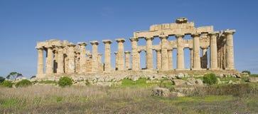 Der Tempel von Selinunt in Sizilien Stockfotografie