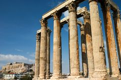 Der Tempel von Zeus, Athen. Lizenzfreie Stockfotografie