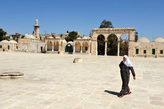 Der Tempelberg und Haube des Felsens in Jerusalem Israel lizenzfreies stockfoto