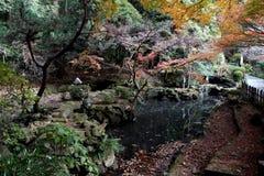 Der Tempelgarten von Mt Nokogiri stockfoto