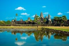 Der Tempelkomplex von Angkor Wat Lizenzfreies Stockfoto