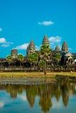 Der Tempelkomplex von Angkor Wat Stockbilder