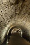 Templar Tunnel in Acco Lizenzfreies Stockbild