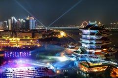 Der tengwang Pavillon im Sonnenuntergang lizenzfreie stockbilder