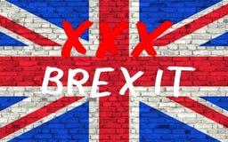 Der Text symbolisieren END-brexit Stockbild