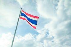 Der Thailand-Flaggenhintergrund Stockfotos
