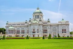 Der Thron Hall Ananta Samakhom in thailändischem königlichem Dusit-Palast Lizenzfreies Stockbild